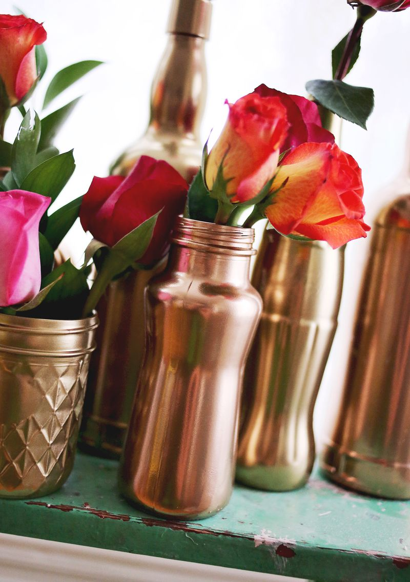 Diy Copper Vases Funny How Flowers Do That