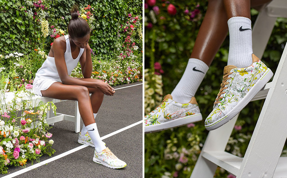 NikeCourt x Liberty London: fabulously floral   Funny how flowers do that