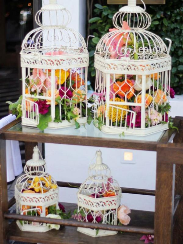 Birdcage Flower Arrangements Funny How Flowers Do That