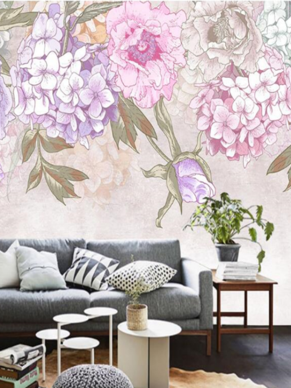 Three ways of decorating your walls with hydrangeas Funnyhowflowersdothat.co.uk